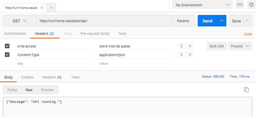 Utiliser l'API REST Home Assistant - Devotics