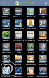 Application mobile eedomus : Dashboard général