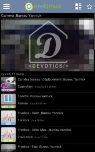 Application mobile eedomus : Sous dashboard