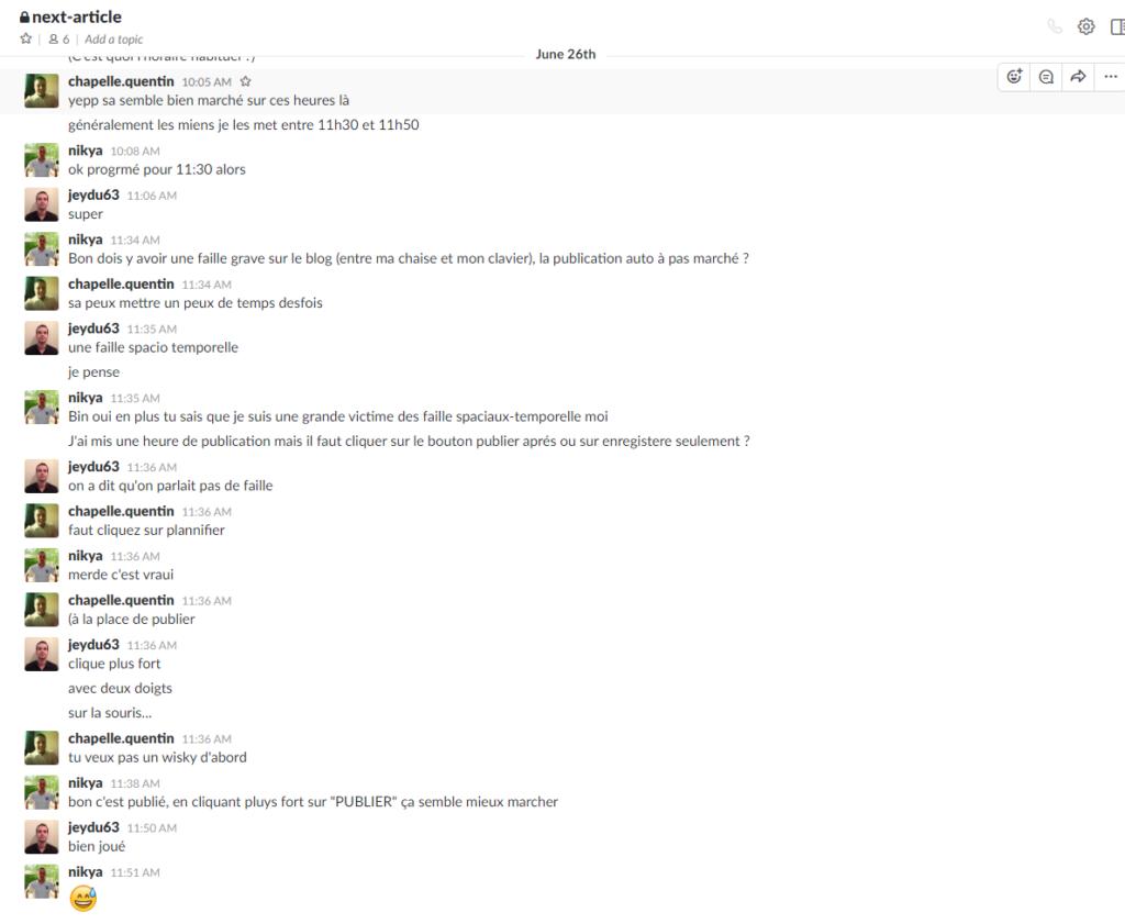 Conversation Slack