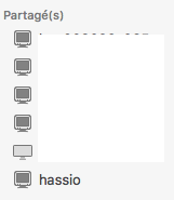 Exemple dossier partagé sur Mac