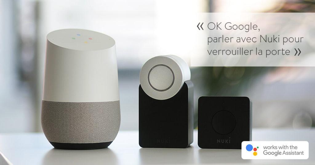 Nuki fonctionne avec Google Assistant