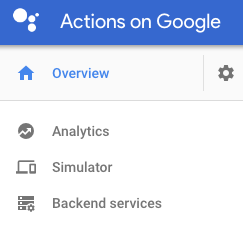 Menu Actions on Google