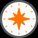 Une rose des vents (windrose-compass) et ses point cardinaux