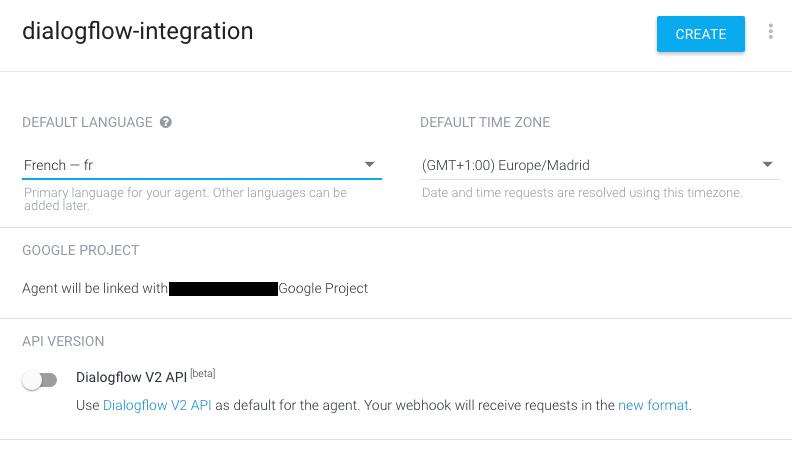 Dialogflow intégration