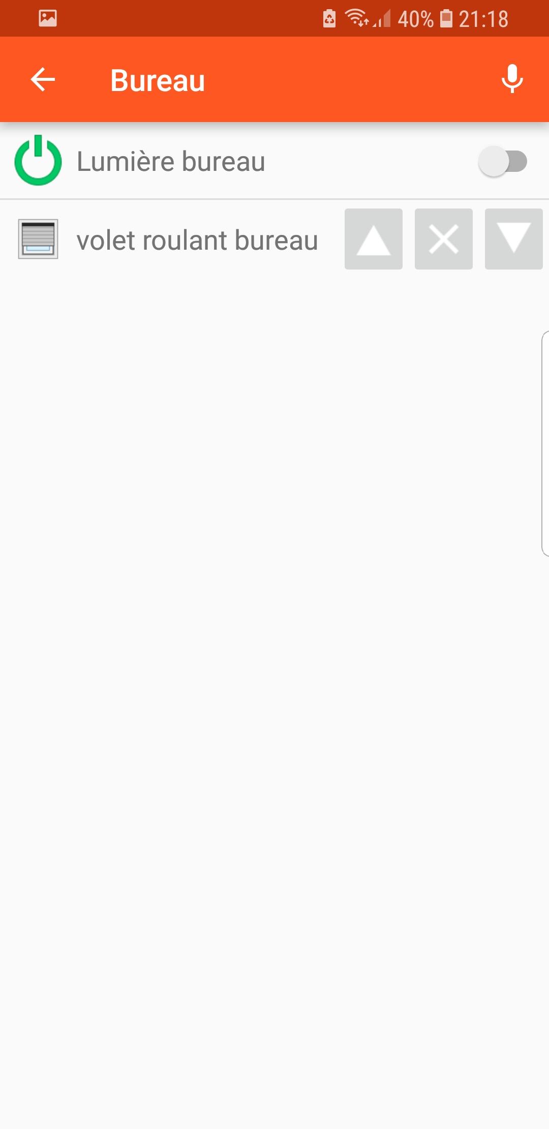 Votre dashboard openHAB sur l'application Android