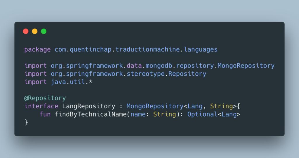 Langue repository