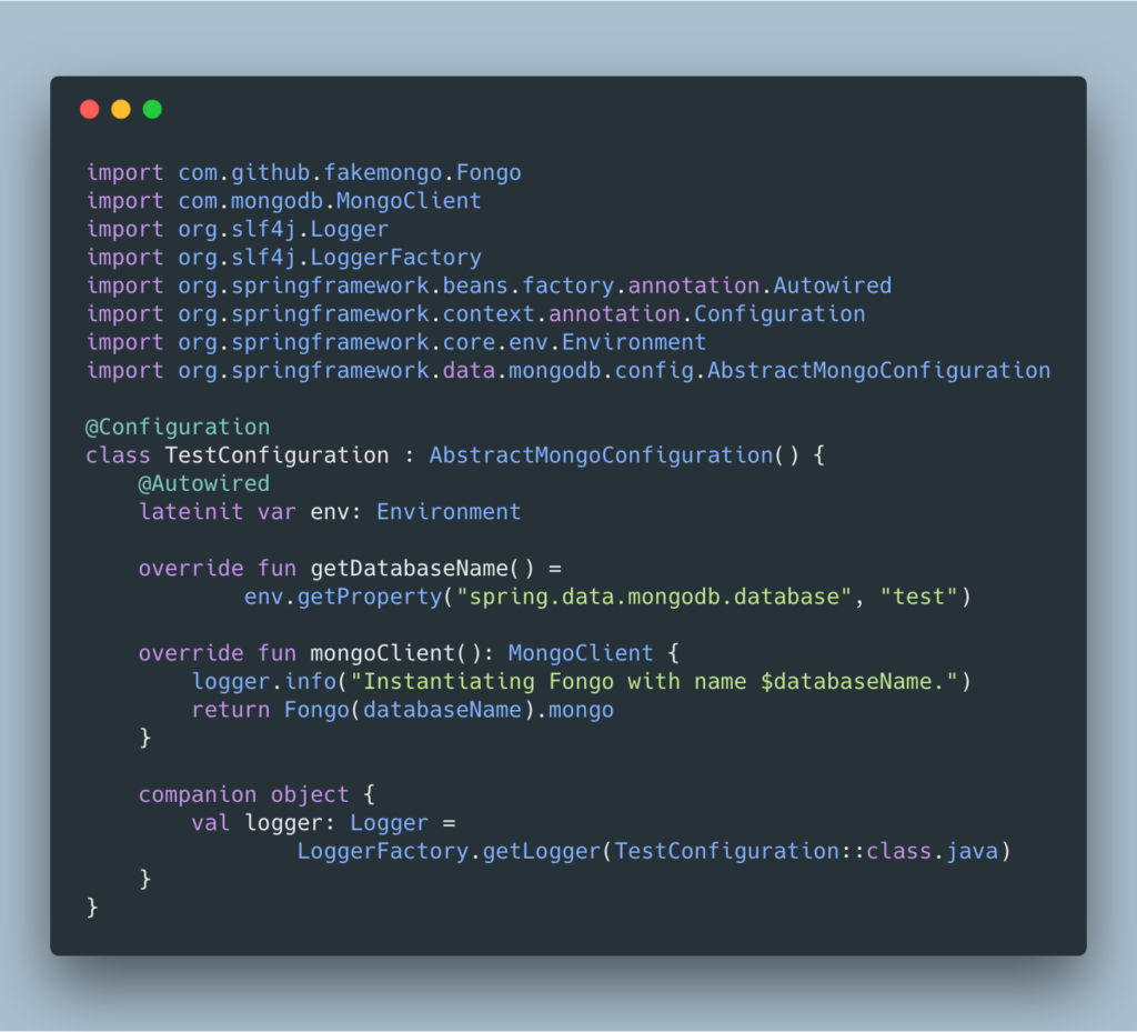 Fichier de configuration