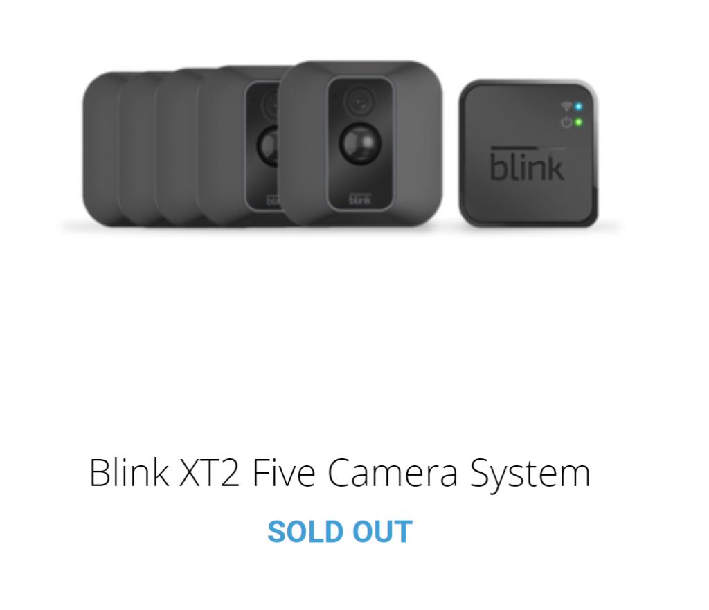 La caméra Blink XT2 non disponible